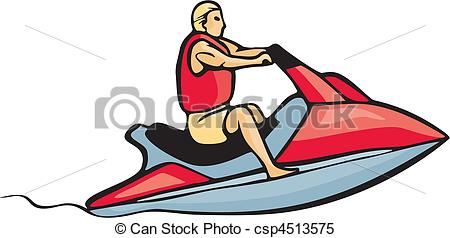 Clipart Vector of auto and boat racing csp4513575.
