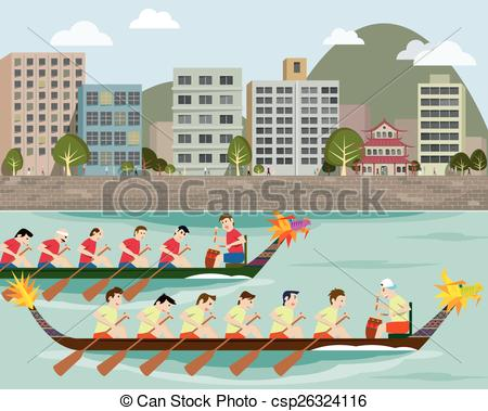 Dragon boat racing Stock Illustrations. 56 Dragon boat racing clip.