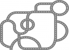 Racing Cars On The Road Clipart.