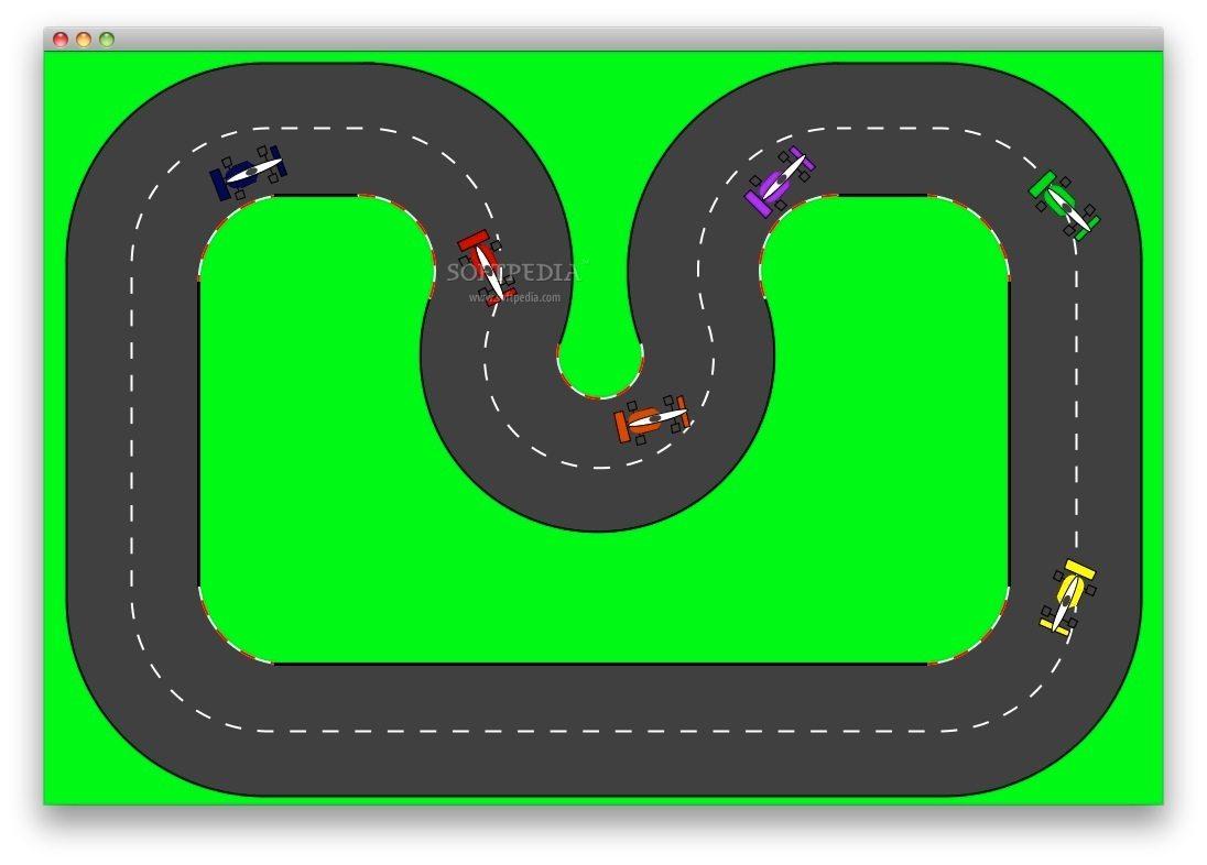 Race Track Road Clipart.