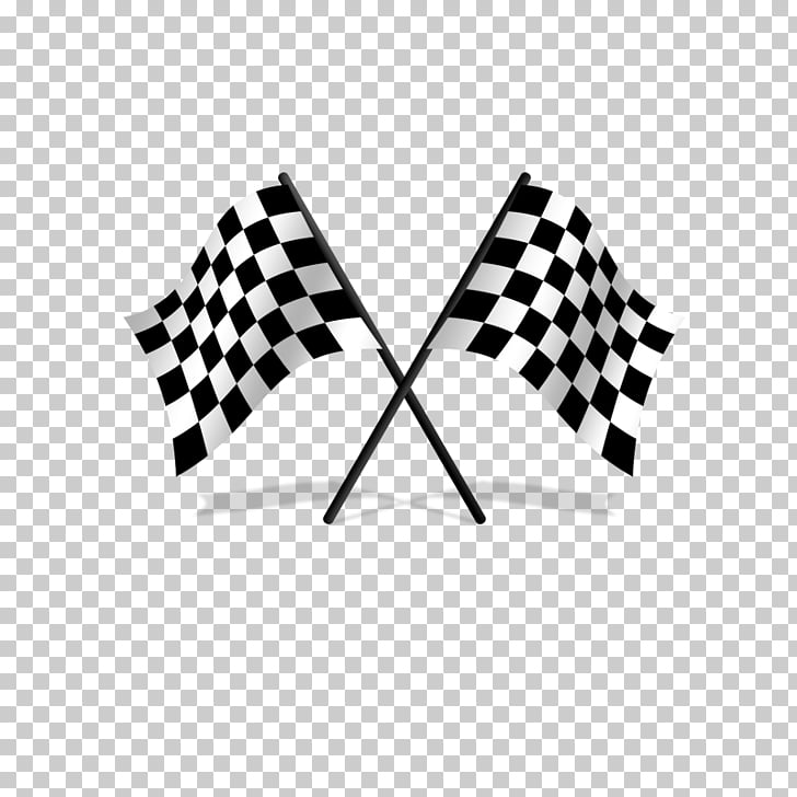 Racing flags , Creative black and white checkered flag, two.