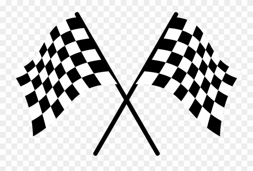 Racing Flags Auto Racing Clip Art.