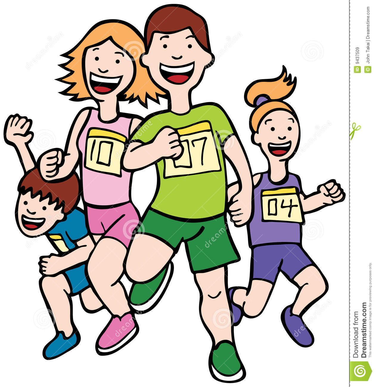 Running Race Clipart Free.