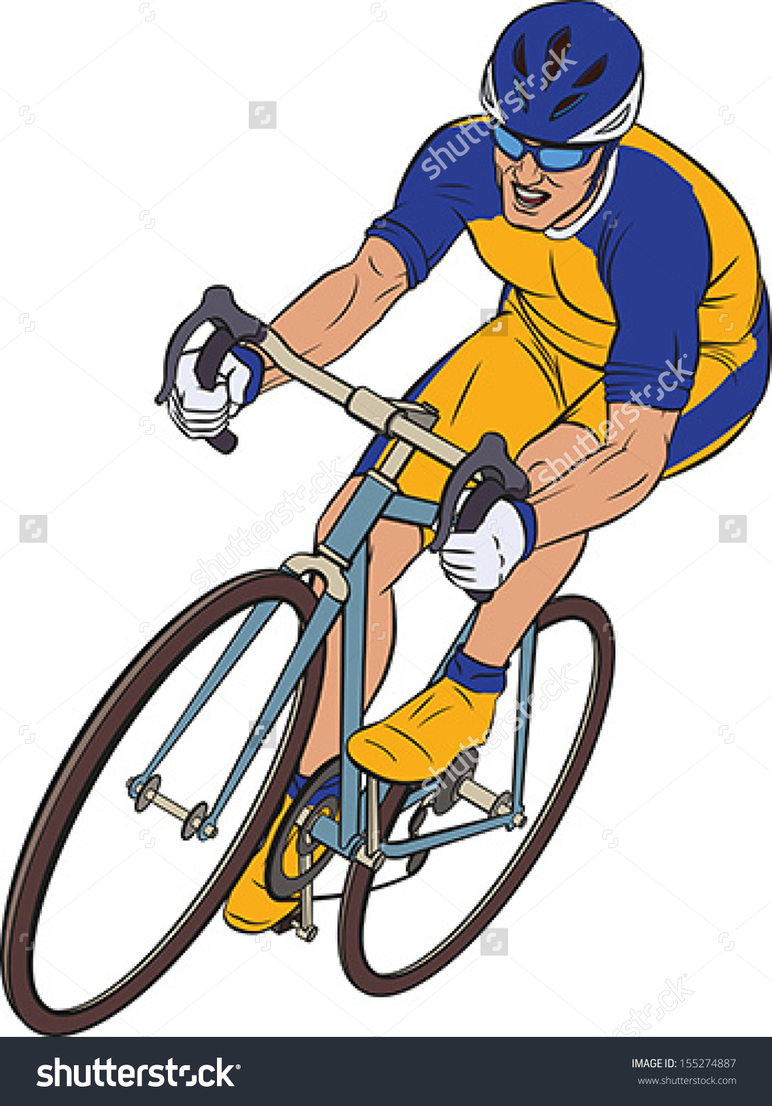 Bicycle Race Clipart.