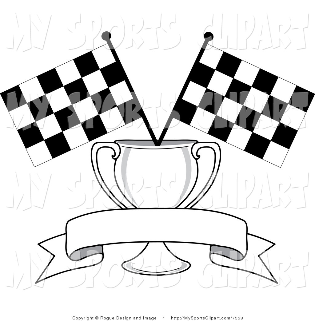 Racing Flag Banner Clipart.