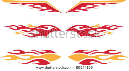 Hot Rod Flames Stock Images, Royalty.