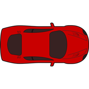 Red racing car top view clipart, cliparts of Red racing car top.