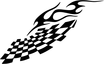 Tribal Racing Flame. Free vector clipart sample for vehicle.