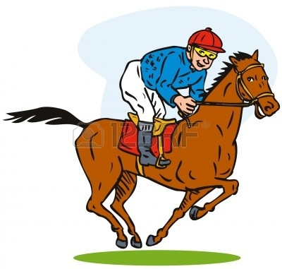 Thoroughbred Horse Racing Clip Art.