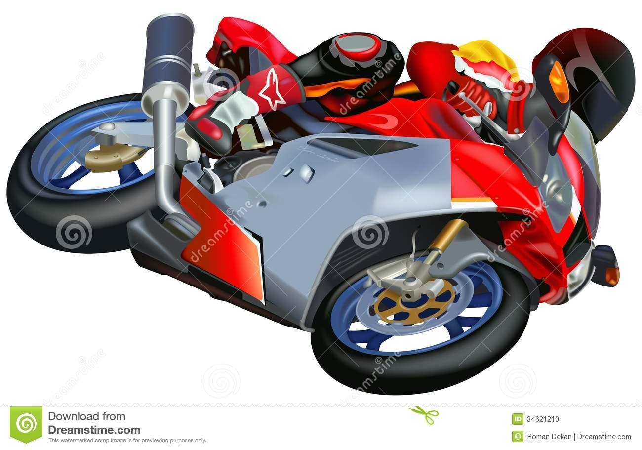 Moto Racing Clip Art.