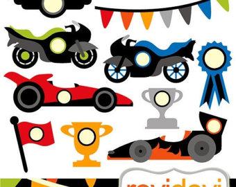Racing car clipart.