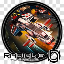 Game ICOs I, Radial G Racing Revolved transparent background.