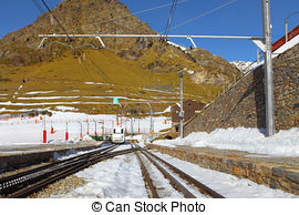 Stock Images of Rail rack railway.
