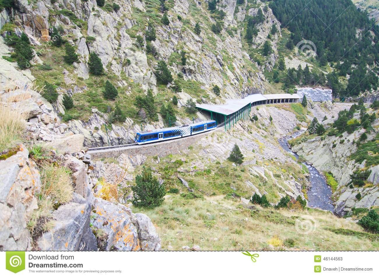 Rack Railway Of Vall De Nuria, Spain Stock Photo.