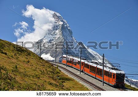 Stock Photograph of The Gornergratbahn is a 9 km long gauge.