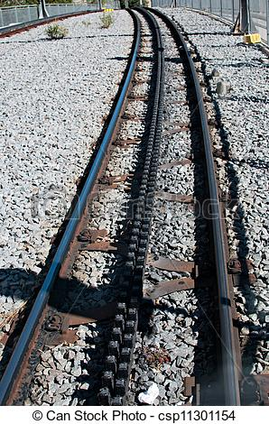 Stock Images of Rail rack railway.