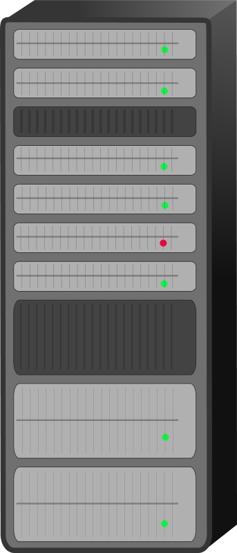 Free Clipart: Server rack.