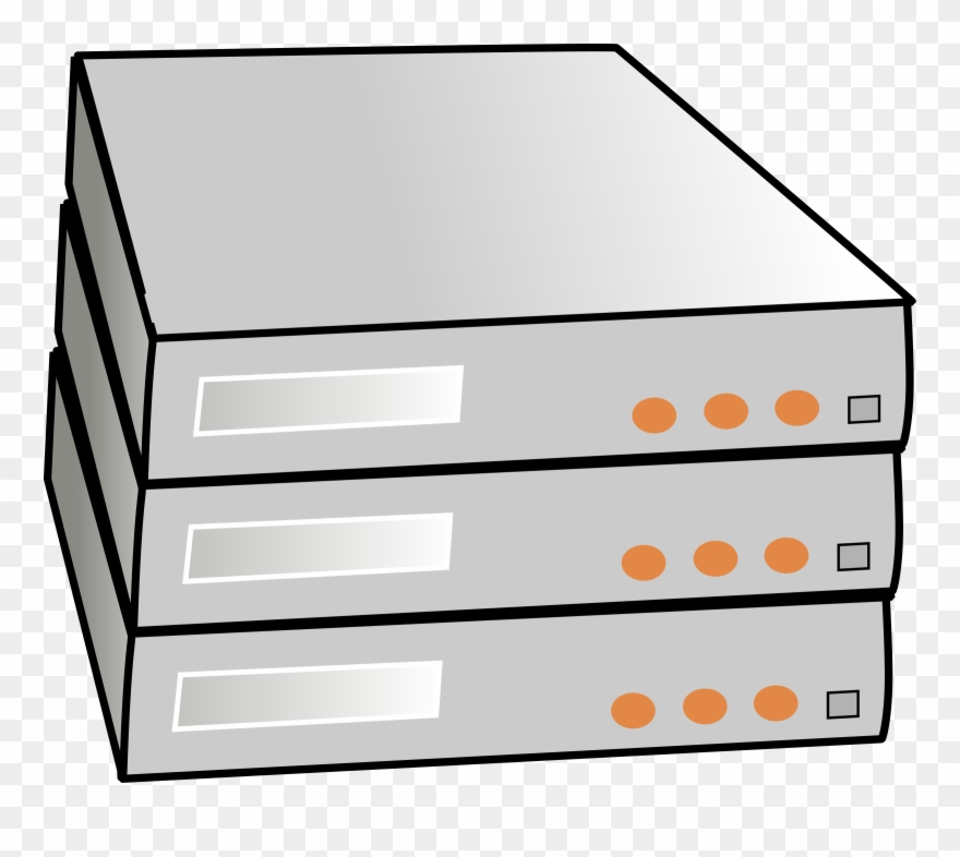 Clip Art Stock Stacked Servers Big Image Png.