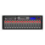 Server rack vector illustration.