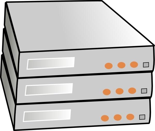 X86 Rack Servers clip art Free vector in Open office drawing.
