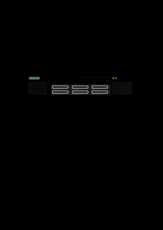 Free Clipart: Generic rackmount server.