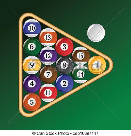 EPS Vector of Eight Ball Racked.