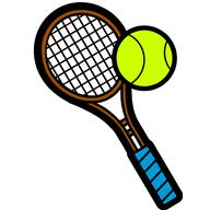 Tennis racket clip art.