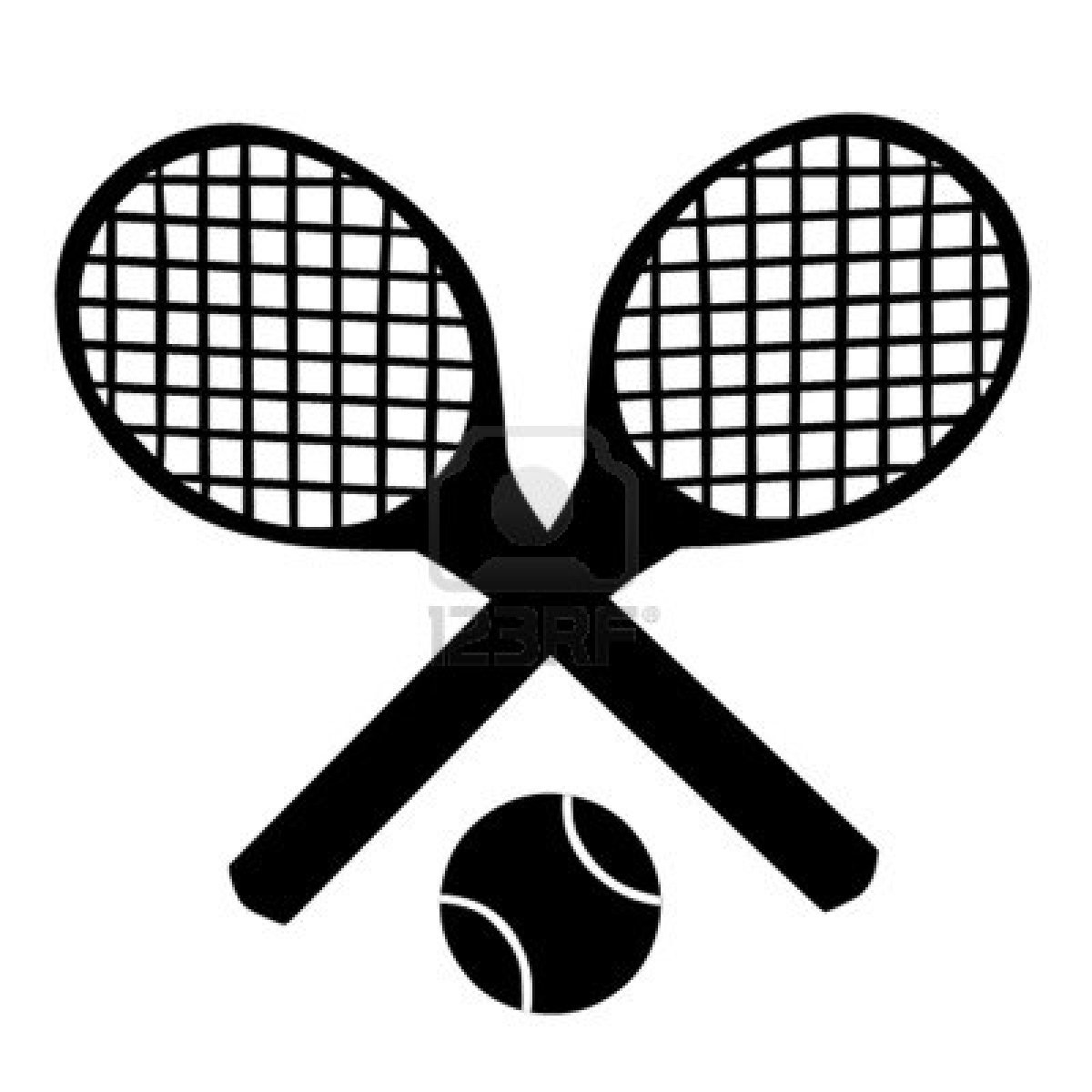 Paddle Ball Rackets Clip Art.
