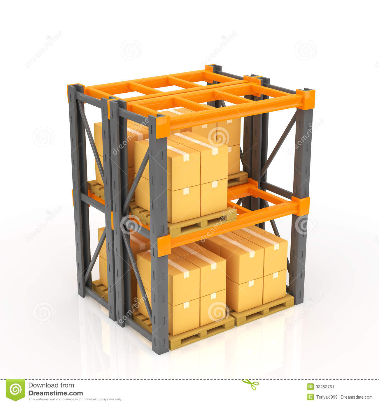 Warehouse Racks Stock Image.