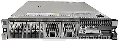 Rack Mount Server Front View Stock Photos.
