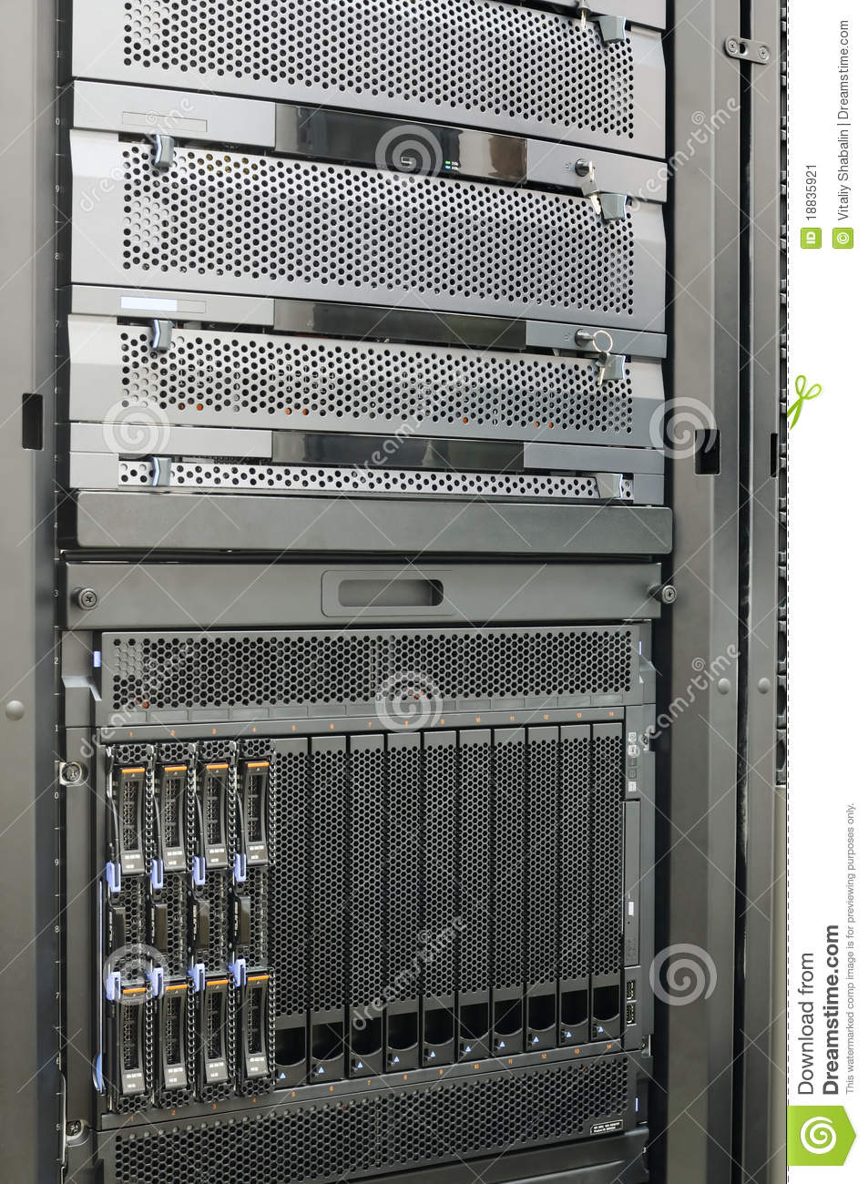 Rack Server Clipart Rack Mounted Blade Servers #49DH2O.