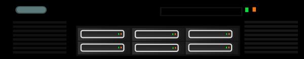 Generic Rackmount Server Clip Art at Clker.com.