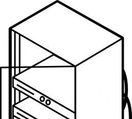 Wide Server Rack clip art.