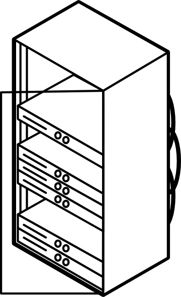 Rack Mounted Blade Servers Outline clip art Free vector in Open.