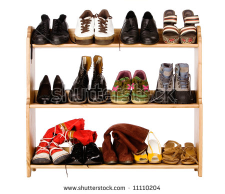Shoe Rack Stock Images, Royalty.