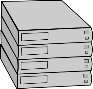 Stacked Servers Without Rack Clip Art at Clker.com.