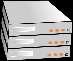 Clipart server rack.