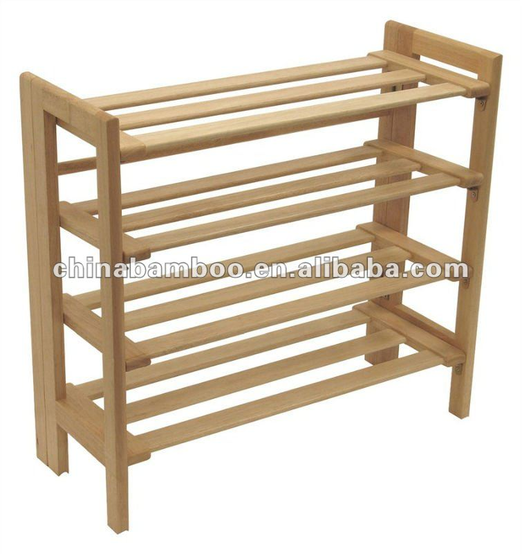 wooden shoe rack, stackable, folded, View wooden shoe rack.