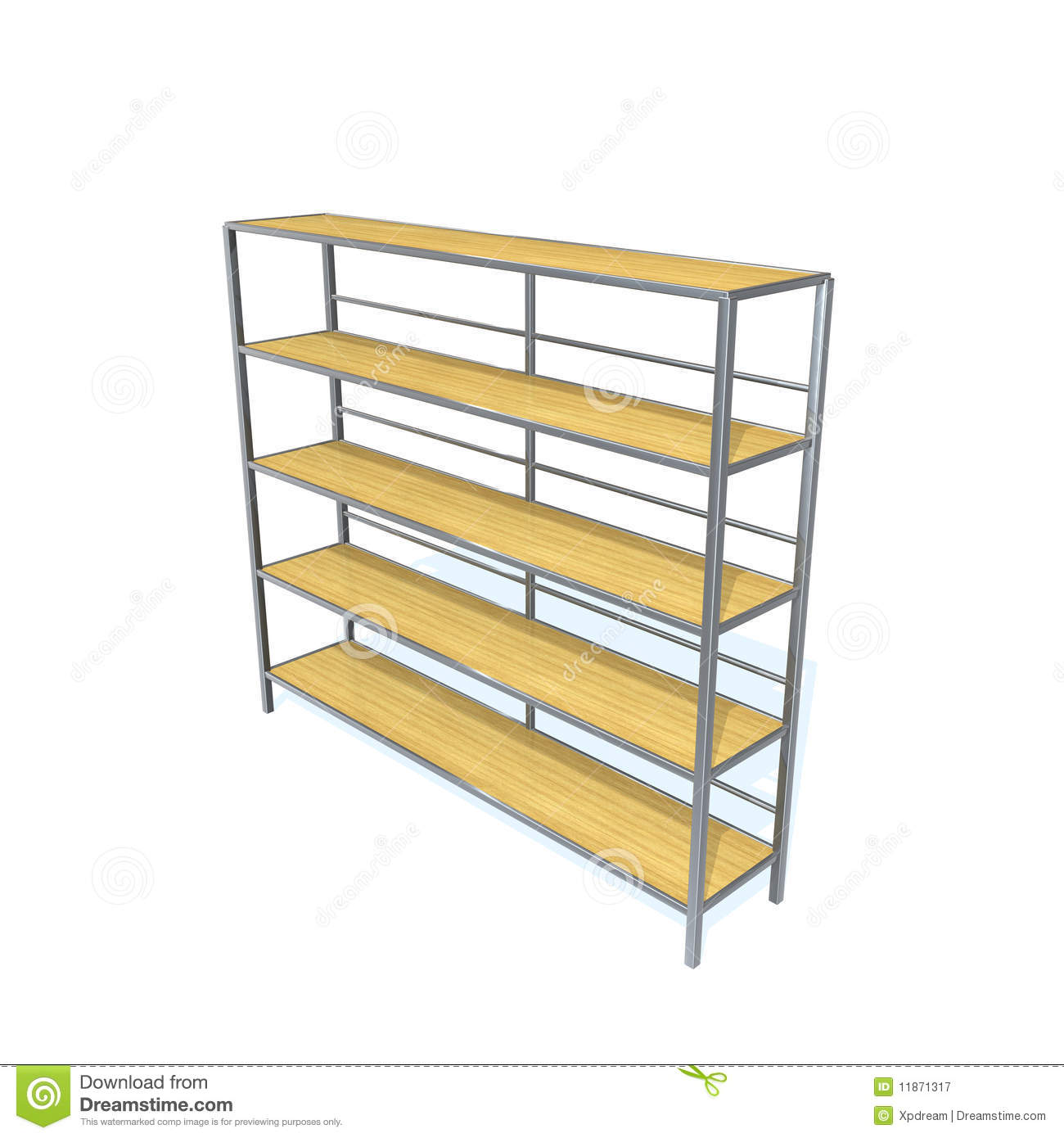 Storage Racks Royalty Free Stock Photography.