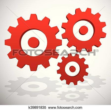 Clipart of Gearwheel, rack wheel, gear icon, sign. Service.