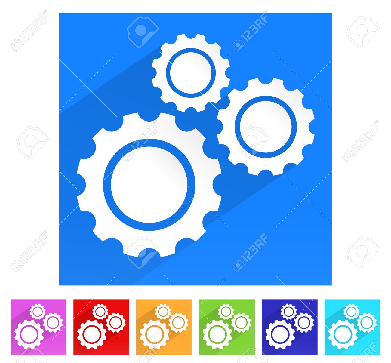 Various Gear Wheel, Rack Wheel Vector Graphics. Mechanics.