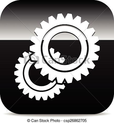 Vector Clipart of Various gear wheel, rack wheel vector graphics.
