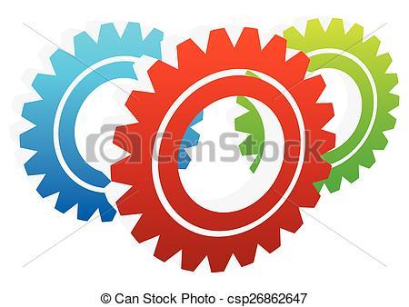 EPS Vector of Various gear wheel, rack wheel vector graphics.