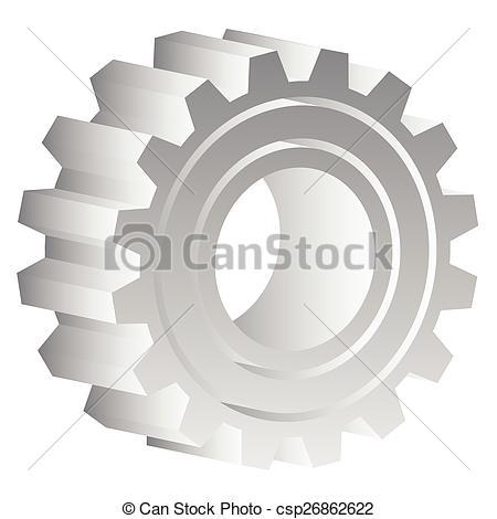 Vector Illustration of Various gear wheel, rack wheel vector.
