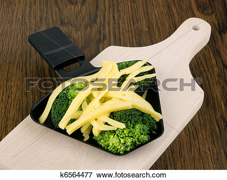 Picture of Broccoli with raclette cheese k6564477.
