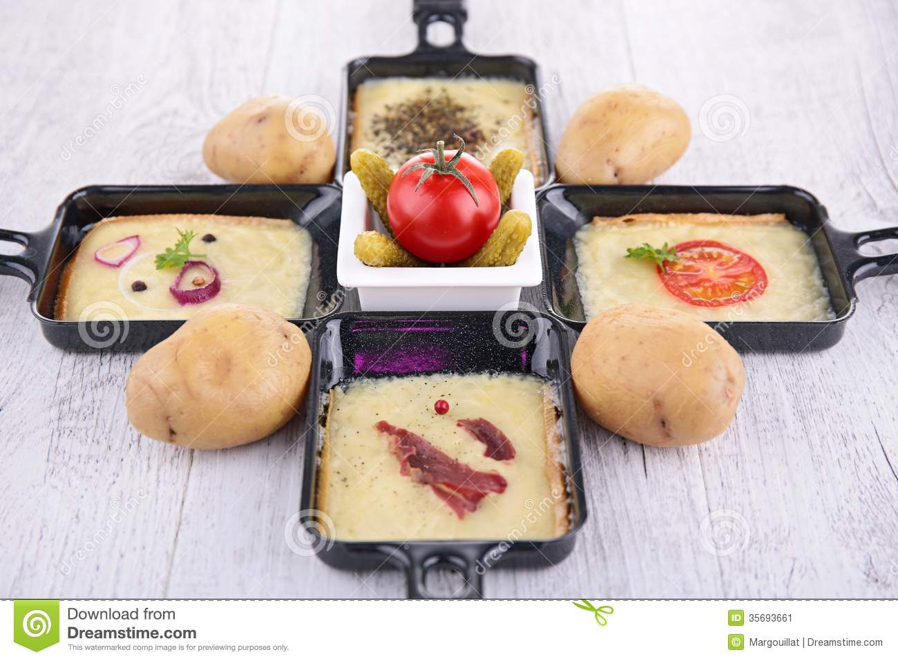 Raclette Tray Stock Images.