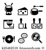 Raclette Clip Art EPS Images. 5 raclette clipart vector.