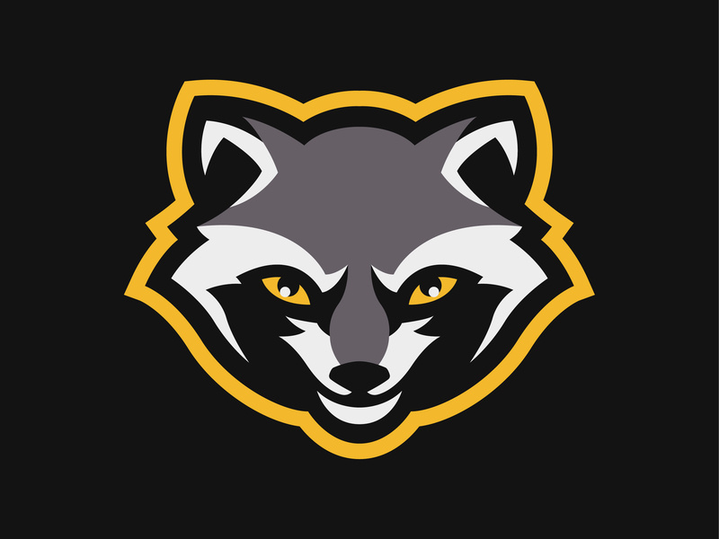 Racoon mascot logo by Sergey Zhur on Dribbble.