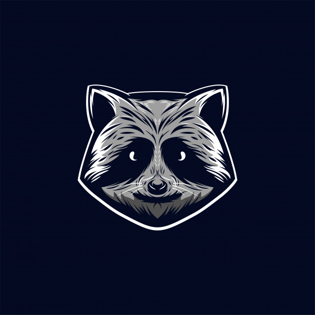 Awesome racoon logo illustration Vector.