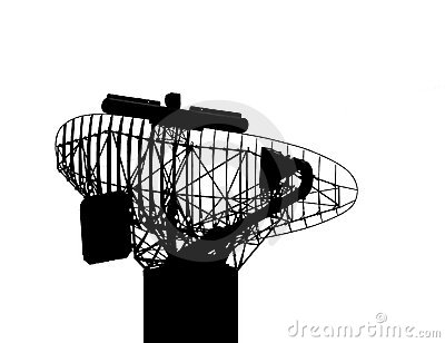 Clipart radar antenna.